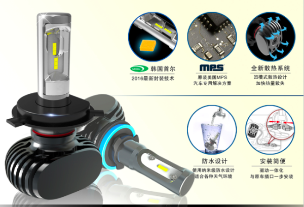 2Pcs 9005 HB3 9006 HB4 H11 H4 H7 Led H1 Auto Car LED Headlight S1 N1 50W 8000LM 6000K Automobile Bulb All In One CSP Auto Lamp 1 pair car headlight bulb kit 12v 50w automobile headlamp zes lumileds led chip auto head light fog lamp 9005 9006 h11 h4 h7 h1