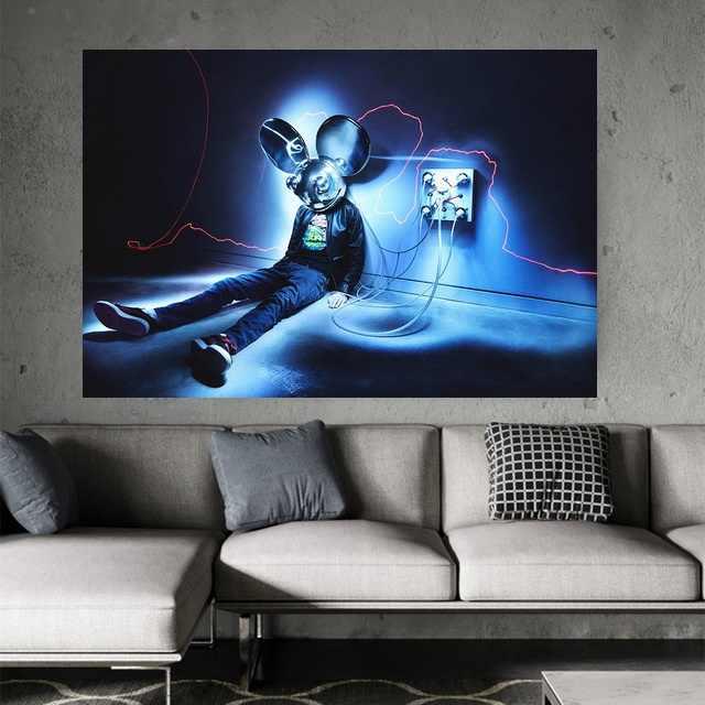 Deadmau5 Deadmaus DJ di Musica Elettronica Arte Della Seta Poster Stampe Per La Casa Della Decorazione Della Parete Della Pittura