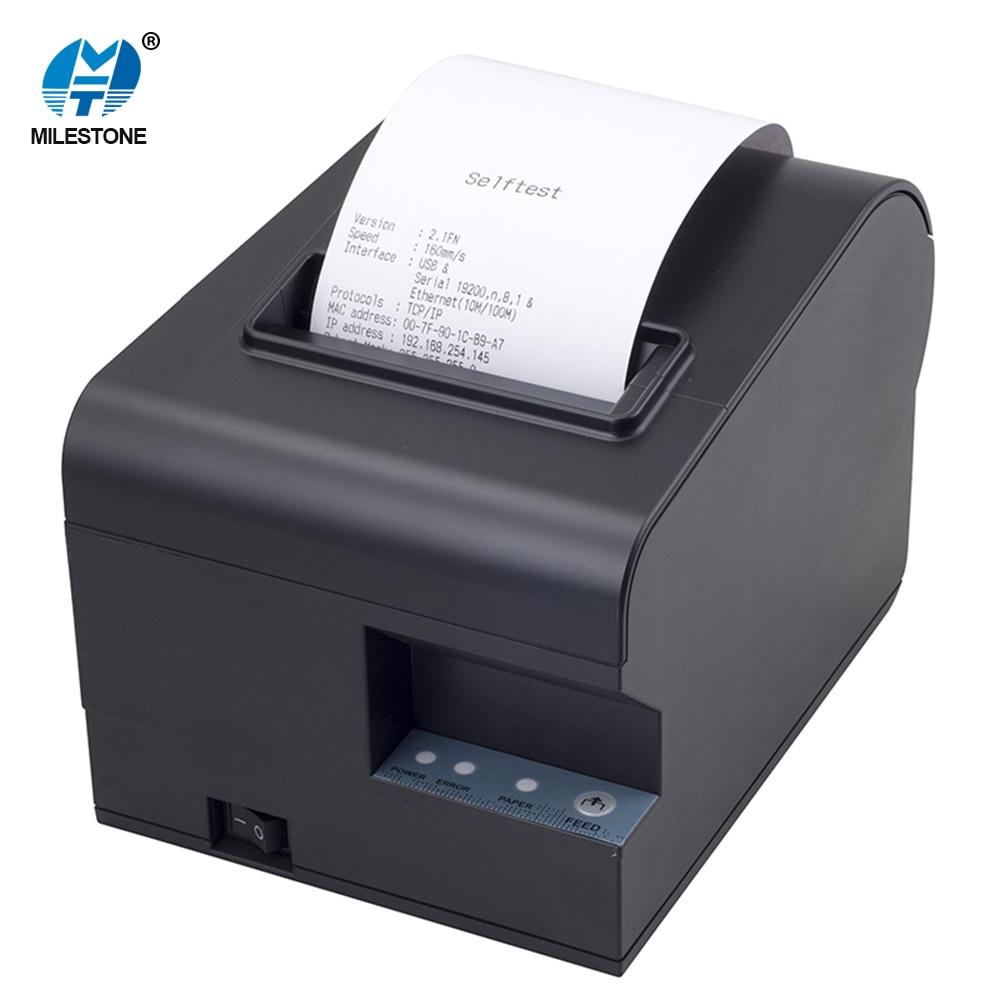 3inch Desktop POS Printer Thermal Cheap 80mm Thermal Receipt Printer MHT-N160II goojprt mtp 3 portable 80mm bluetooth thermal printer exquisite lightweight design eu plug support android pos multi language