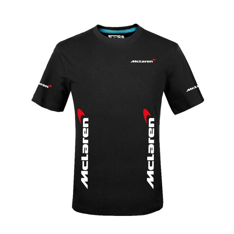 Men's Summer Solid Colour Mclaren T-Shirt Jerseys O-neck Tops Regular T Shirt