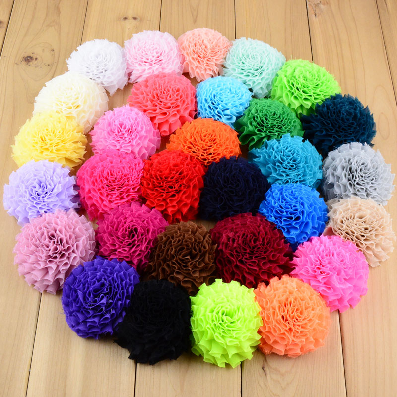 New Arrival 30C In Stock 150pcs lot 7Cm girls Hair Beauty Flowers Without Clip Flat Back