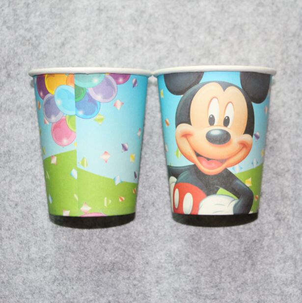 mikey mouse 20PCS printing paper <font><b>cup</b></font> tableware for birthday <font><b>party</b></font> <font><b>cups</b></font> <font><b>Movie</b></font> Character drinking