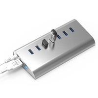 USB 3.0 HUB 7Ports Splitter Adapter 5Gbps Super Speed ALuminum Quick Charging with LED lamp for Laptop PC Tablet