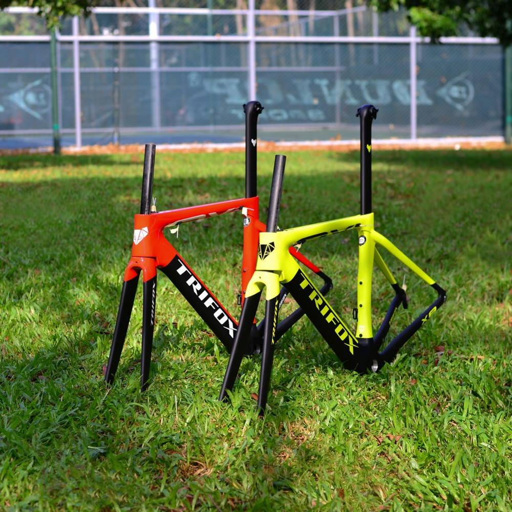 TRIFOX Road Carbon Fiber Bike Frame Di2 & Mechanical 700C Carbon Road Bike Frame +fork+headsets+clamp+seatpost