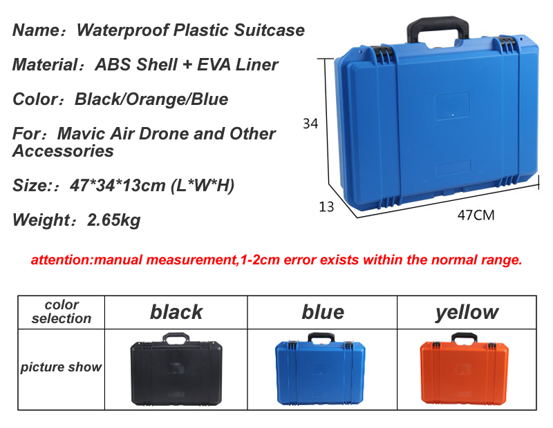 New Luxury Waterproof Plastic Suitcase For DJI Mavic Air RC Drone Advanced  Protection Remote Control Accessories Storage Case