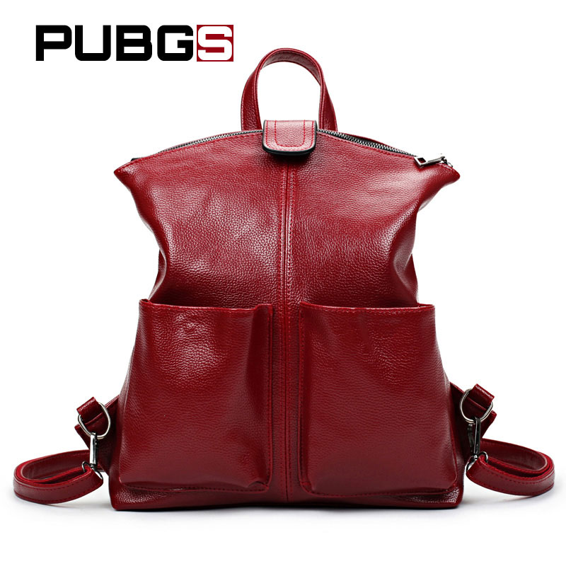 Womens Backpacks PU Leather School Bag Lady Preppy Style High Capacity Travel Backpack Female Bag Luxury Quality PUBGS 2018 New