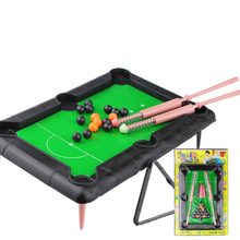 1 Pcs set New Mini Pool Table Flocking Desktop Simulation Billiards Novelty Mini Billiards Table Sets