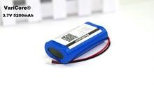 New Protect 3.7 V 5200 mAh 18650 Li lon Battery Fishing lights spotlight special 4.2V Battery pack free shipping