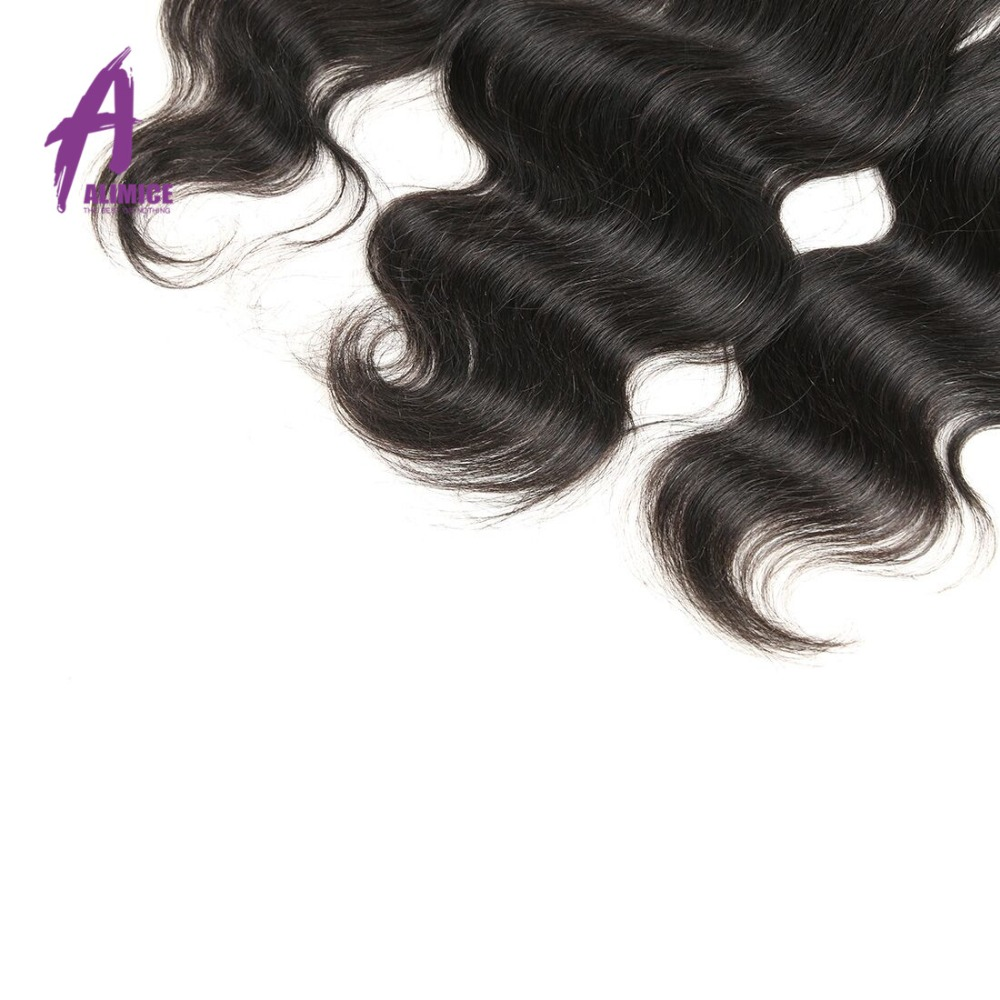 Alimice Lace Frontal Closure Indian Hair Body Wave 13x4 FreeMiddleThreeSide Part Human Hair Closure With Baby Hair 8-24inch (23)