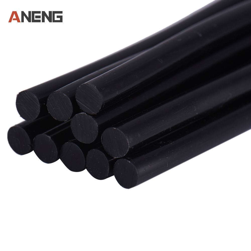 Free Shipping (10PCS/Lot) Non-Toxic Transparent/Black 7mm X190mm Hot Melt Glue Sticks For DIY