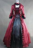 (Ll329) одежда с длинным рукавом Готический викторианской Лолита платье для выпускного вечера бальное платье Косплэй нарядное платье на Хэлло
