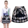 New Spring 2014 Women Floral Skirt Princess Tutu Skirt Casual Girl Skirt Saias Femininas B2# 41