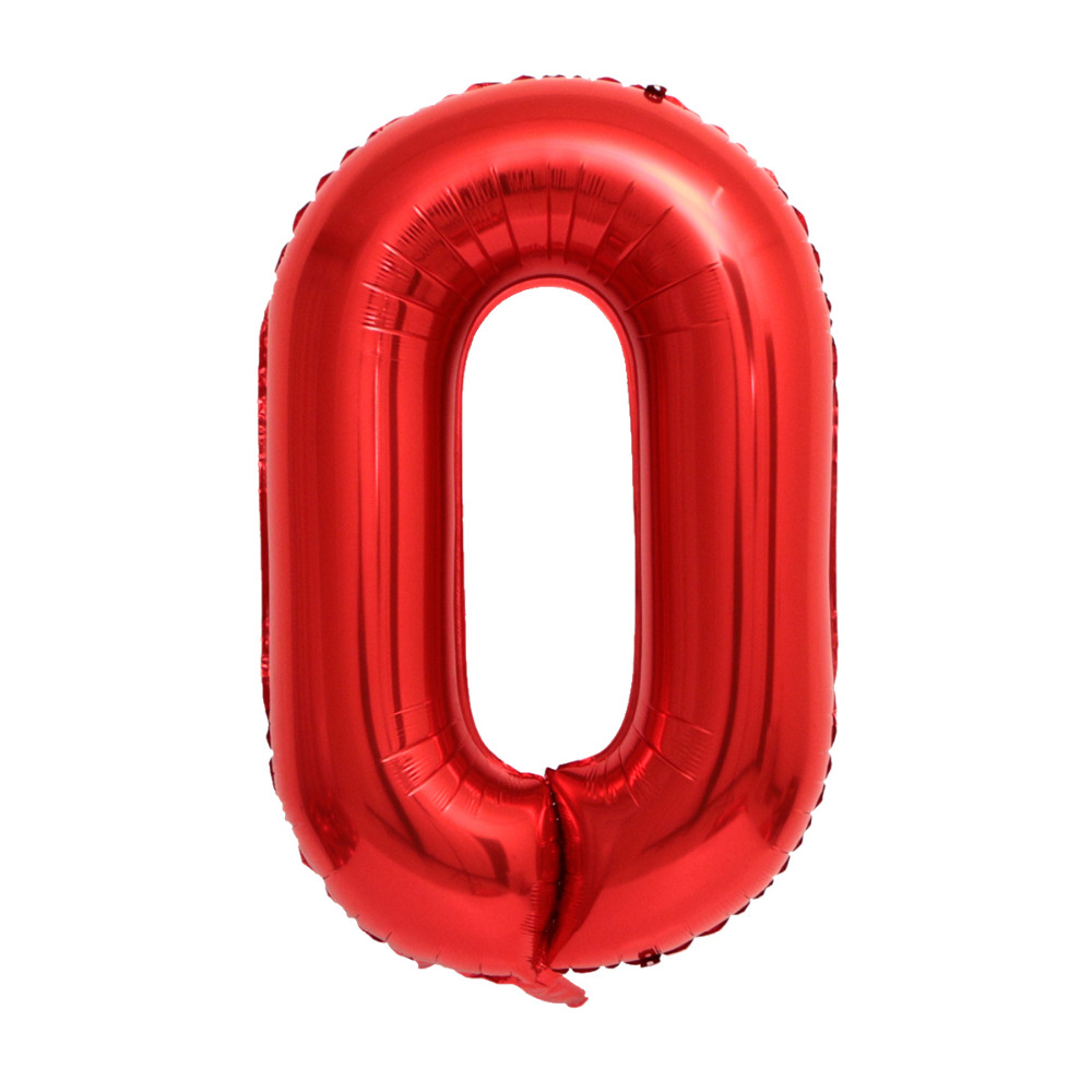 40inch red color Number Foil Balloons Rainbow Digit Birthday Party Decorations kids Figure Wedding Balloon Baby