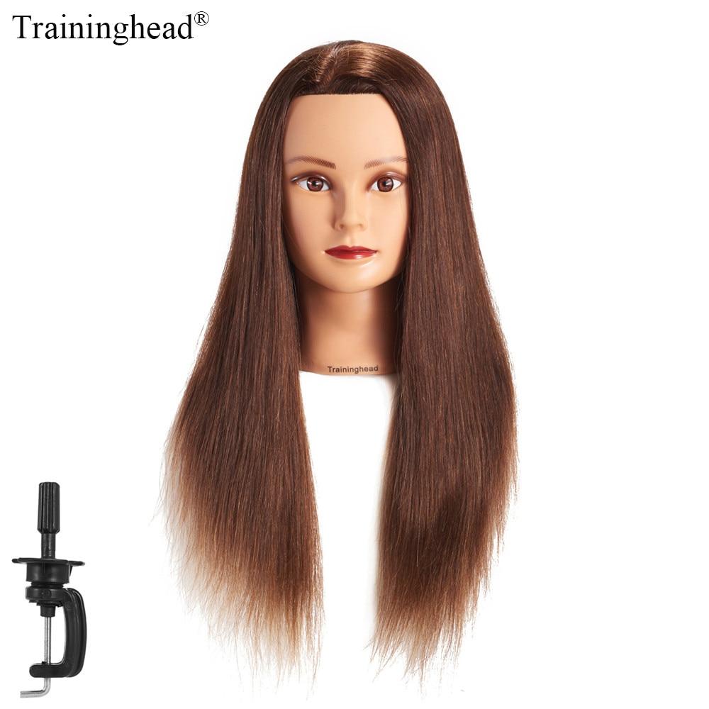 Traininghead 24 Quot 26 Quot Mannequin Head 100 Human Hair