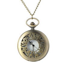 Cindiry Alice in Wonderland Theme Rabbit &Playing Card & Key Pocket Watch Vintage Necklace Pendant Bronze Watch Gifts P20