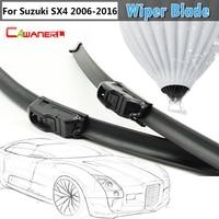2Pcs Car Soft Rubber Windshield Automotive Front Windscreen Wiper Blades For Suzuki SX4 2006 2015
