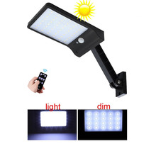 hot deal buy remote control rotate bracket solar street light newest 48 led solar powered street light pir motion sensor lamps garden securit
