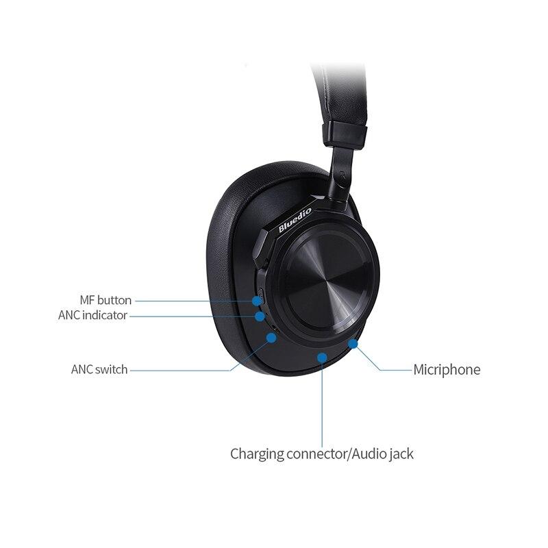 Image 4 - Bluedio T6 активный Шум шумоподавления наушники Беспроводной Bluetooth гарнитура с микрофоном для телефонов и музыкаНаушники и гарнитуры   -