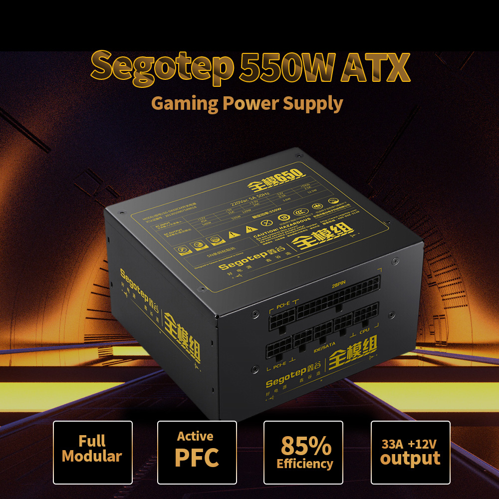 NEW 550W Full Modular Active PFC ATX Gaming Power Supply with Low Noise 120mm Fan for desktop computer pc case gamer segotep f7 500w atx computer power supply desktop gaming psu active pfc 120mm fan 90 264v power supply for computer