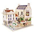 Wooden Chalets British Pubs Building 3D Puzzle Toys Children's Educational Jigsaw Wooden Puzzle Free Shipping