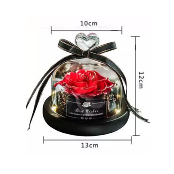 Glow Eternal Rose in A  Glass Dome Home Decoration Preserved Led Roses Forever Flower Present Beauty And The Beast Rose 1