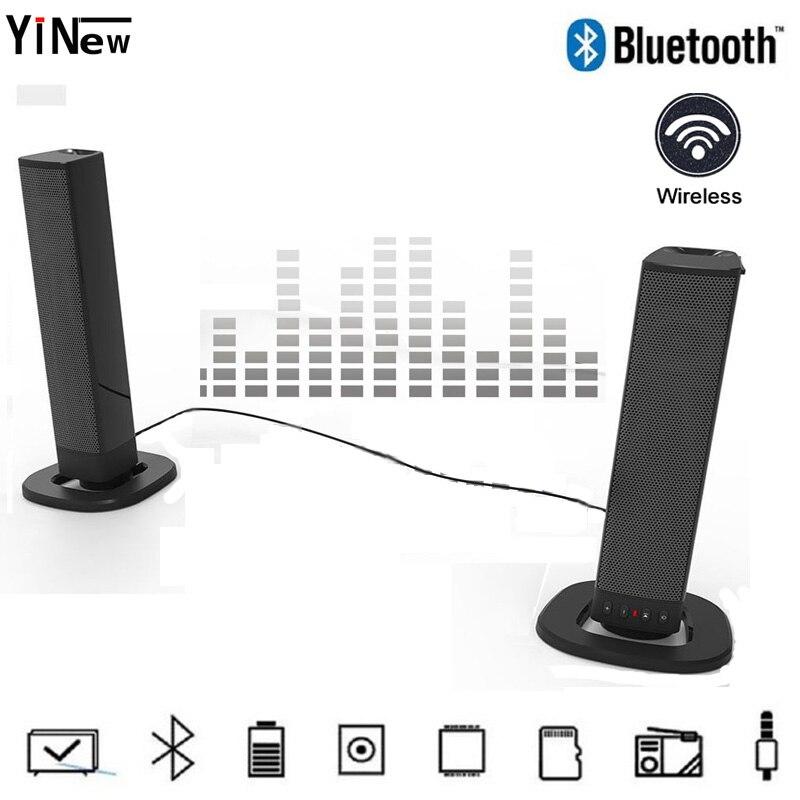 20W TV sound bar box Portable Bluetooth Speaker Wireless home theater system 3D HIFi Stereo Soundbar PC FM radio woofer Computer in Soundbar from Consumer Electronics