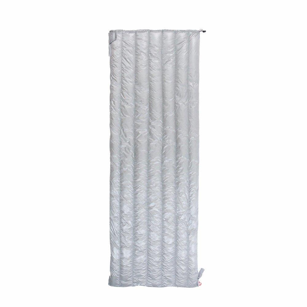 Aegismax Duvet d'oie Blanche Enveloppe Sac de Couchage Allongé Ultra-Léger Camping Randonnée En Plein Air Sacs de Couchage 2 couleurs