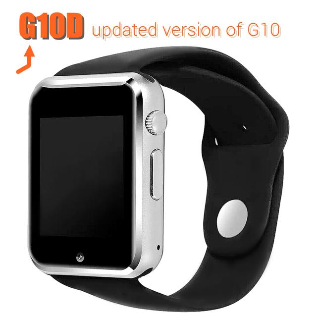 Smart watch g10d bluetooth relógio de pulso do esporte relógios pedômetro mtk6261d cartão sim inteligente smartwatch para android smartphones