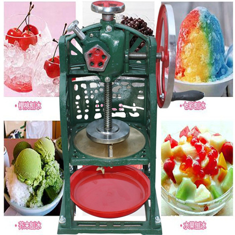 Hand-driven ice crusher commercial and home use crushed ice machine ZF ice crusher summer sweetmeats sweet ice food making machine manual fruit ice shaver machine zf