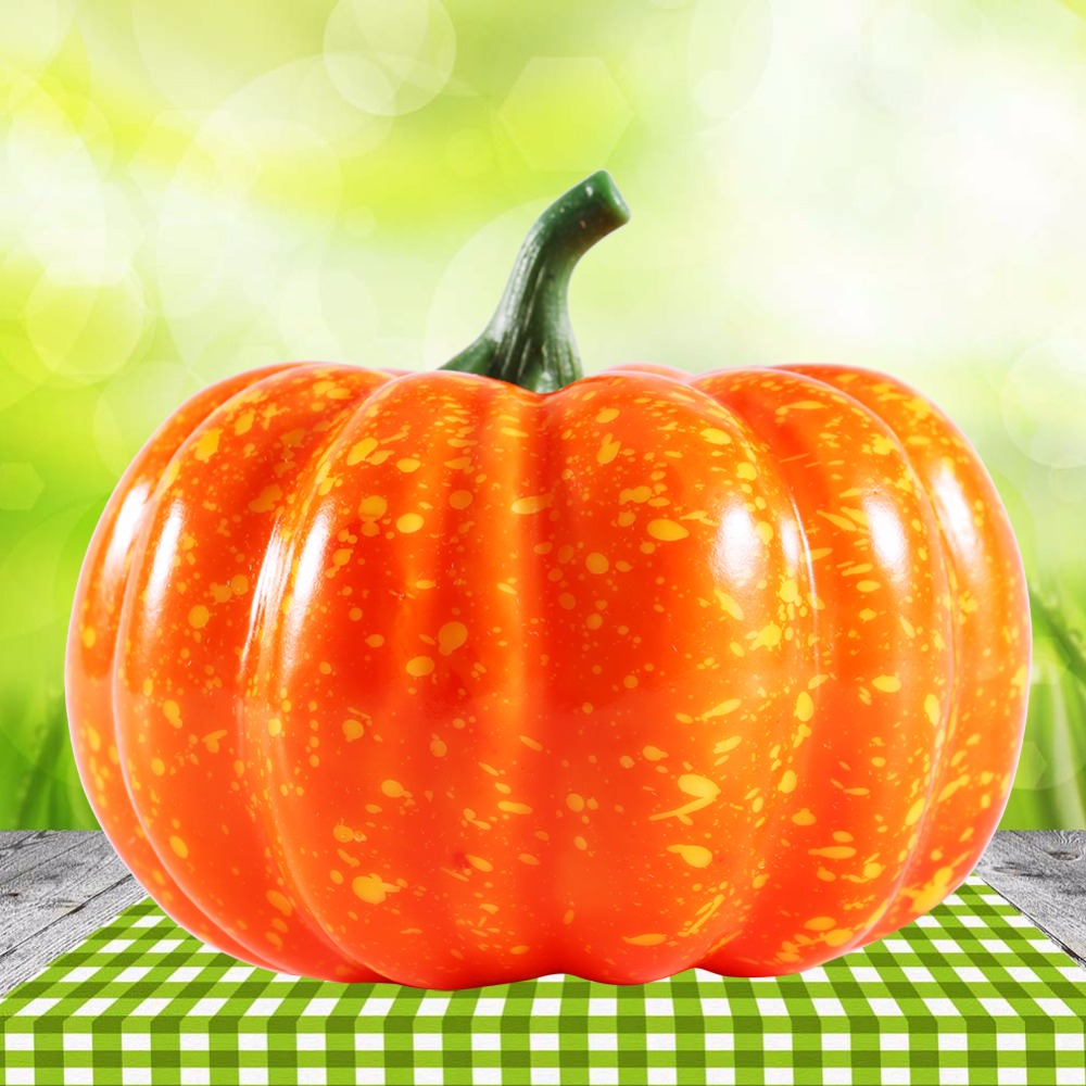 1pc artificial simulation small pumpkin foam mini halloween orange pumpkin decoration 8 5 cm - Small Halloween Decorations