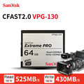 Sandisk Extreme Pro CF Card 64gb 128gb 256gb CFAST2.0 525MB/s VPG130 FullHD 4K Video Card for Canon 3D Mark2 1DX2 XC15 XC10 C700