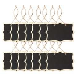 Новый 14x компактные Меловые панели знаки висящая дощечка Прямоугольник Сообщение Двусторонняя доска для свадеб, Детские ремесла, сад