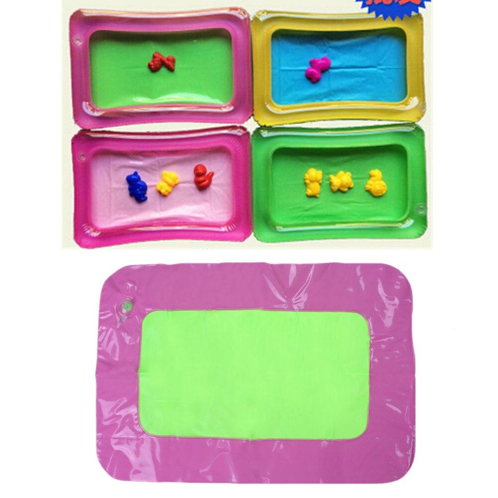 Ernstig 1 St Opblaasbare Zand Lade Kasteel Mobiele Tafel Multifunctionele Zand Mold Plastic Kids Klei Kleur Modder Speelgoed Indoor Spelen Zand 42x 28 Cm