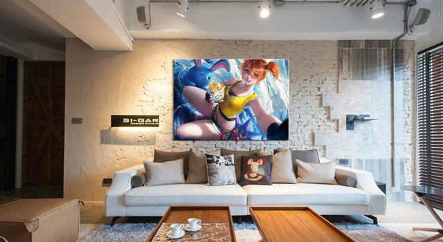 Home Decor Canvas Pokemon Game 1 Piece Anima'ti'o'n Sexy Girl Art Poster Prints Picture Wall Decoration Painting Wholesale 3