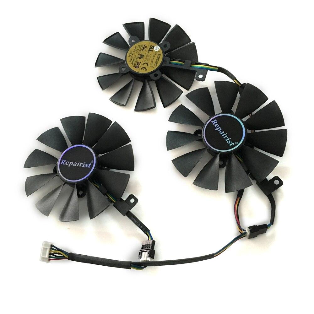 VGA Geforce GTX1080 1070 GPU Cooler Fan PLD09210S12HH T129215SU for ASUS STRIX Raptor GTX1070 1080 graphics