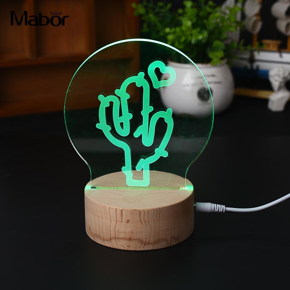 Творческий Световой ночник моделирование лампы светодиодные 3D Красочные Дистанционное управление Glow исследования настольная лампа подар...