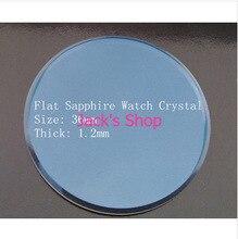 1 unid 1.2 mm de espesor 36 mm plana zafiro vidrio de reloj Crystal para el reloj reparación relojeros envío gratis