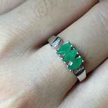 May Birthstone Emerald 925 silver ring Engagement Rings for Women 3*6 Marquis Cut Green Gemstone Band Haleigha Design for Etsy
