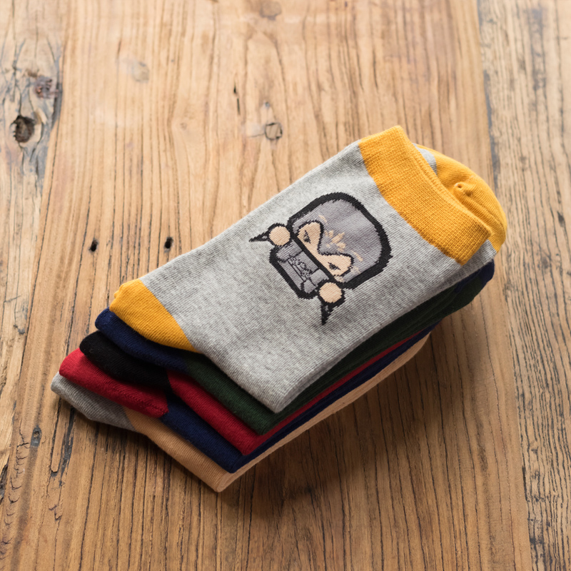 Man Socks Cartoon Hero series man socks Winter Thick Warm man cotton socks EUR39-44