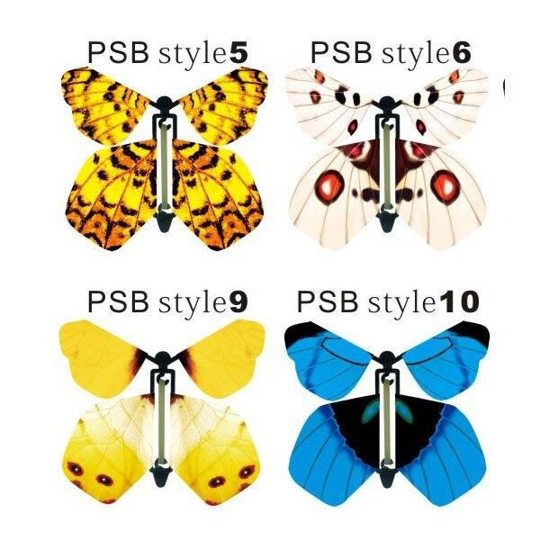 Sihirli kelebek, kağıt kelebek uçabilir, gerçekçi uçan kelebek - Tatiller ve Partiler Için - Fotoğraf 5