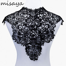 Misaya 1pc Lace Collar of 9 Style Beautiful Flower and Heart Venise Lace