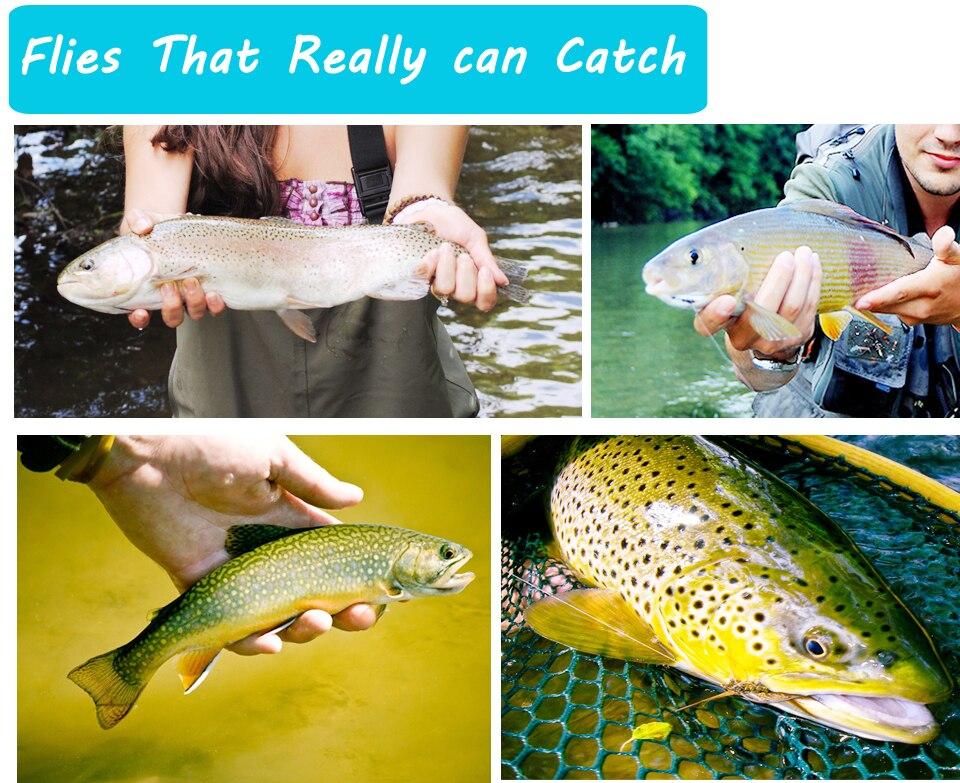 material isca falso moscas para truta grayling panfish pesca equipamento