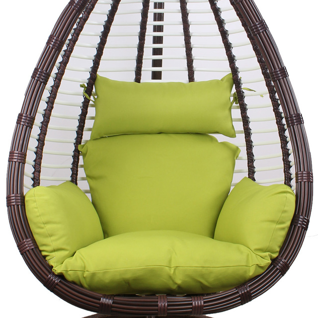 Oval Hollow Hanging Chair Rattan Chairs Wrought Iron Balcony Outdoor Indoor  Adult Swing Basket Shook
