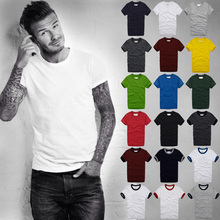 2017 summer t shirt men's short-sleeved 100% cotton T-shirt men bottoming shirt solid color Casual clothes Male Tops & Tees(China)