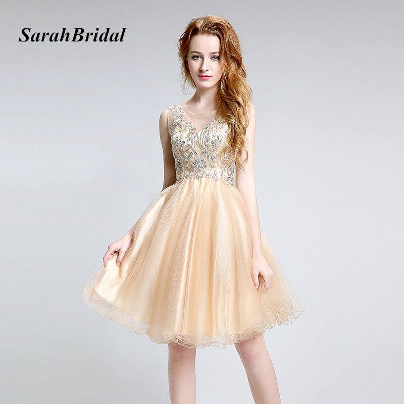 Echt Bild Sexy Liebsten A-linie Organza Mini Homecoming Kleider Kristalle Perlen Pailletten Bogen Formale Prom Kleider Sd131 Weddings & Events