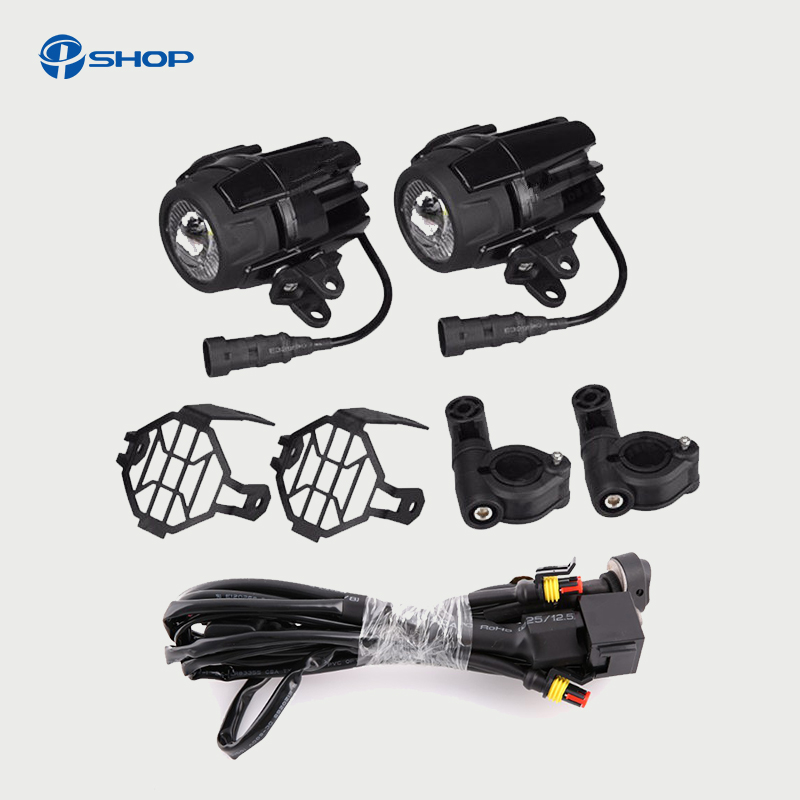 Universal Motorcycle Accessories 40W LED Auxiliary Fog Lights Assembly For BMW R1200GS ADV F800GS K1600 LED Driving Lamp Parts