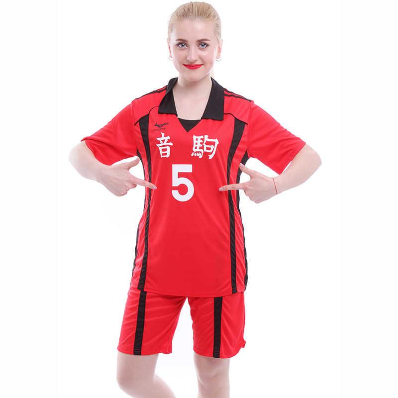 אנימה Haikyuu Nekoma תיכון אחיד כדורעף צוות ג 'רזי Kuroo Tetsurou/Kozume Kenma צופר Cosplay תלבושות ספורט