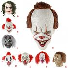Halloween Horror Sorcerer Clown Mask for Masquerade Halloween Party Latex Full Face Mask Escape Dress Up Party Mask for Adult