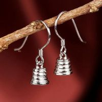 Sterling Silver 925 White Gold Color Pearl Bead Semi Mount Chandelier Hook Women Earrings Fine Jewelry