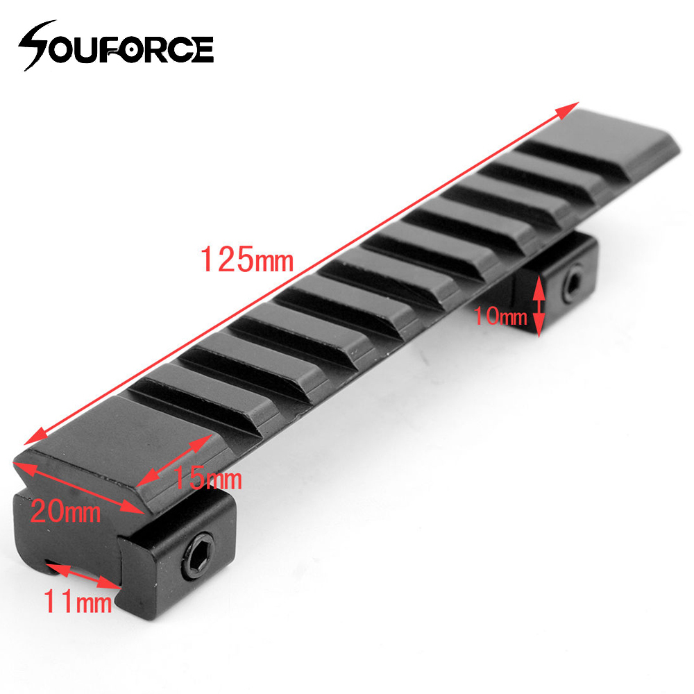 125mm Length 11mm To 20mm Picatinny Weaver Rail With 10 Slots 4 Hunting Rifle Scope